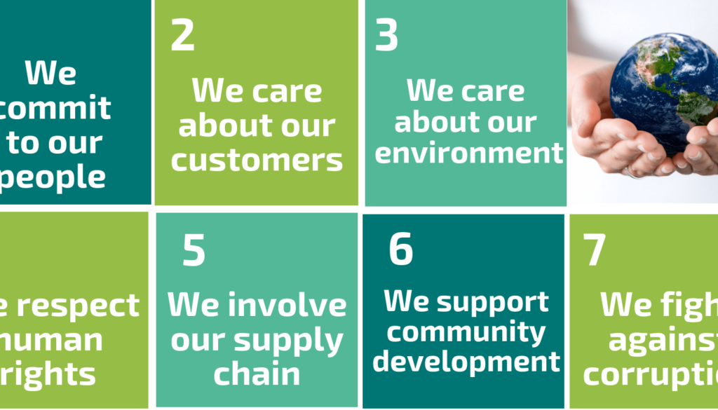 Pillars 7 Commitments in Sustainability