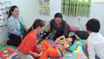 Children @ physical therapyequipment